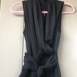 Tie waist jumpsuit with pockets